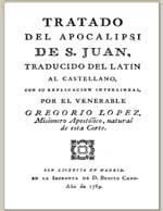 Cubierta para Tratado del Apocalipsi de San Juan