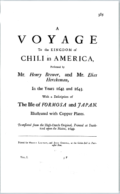 Cubierta para A voyage to the Kingdom of Chili in America
