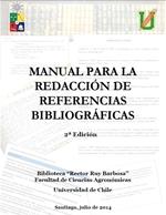 Cubierta para Manual para la redacción de referencias bibliográficas