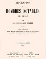 Cubierta para Biografías de hombres notables de Chile