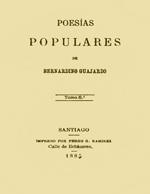 Cubierta para Poesías populares. Tomo VIII