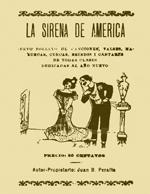Cubierta para La Sirena de América: nuevo folletos de canciones, valses, mazurcas, cuecas, brindis i cantares de todas clases dedicadas al Año Nuevo