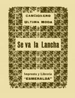 Cubierta para Cancionero última moda: se va la lancha