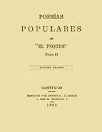 """Cubierta para Poesías populares: de """"El Pequén"""" tomo II"""