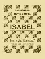 Cubierta para Cancionero última moda: Isabel