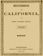 Cubierta para Recuerdos de California