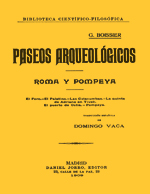 Cubierta para Paseos arqueológicos: Roma y Pompeya