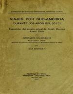 Cubierta para Viajes por Sud-América durante los años 1819, 20 i 21: esposición del estado actual de Brasil, Buenos Aires i Chile