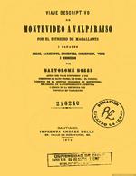 Cubierta para Viaje descriptivo de Montevideo a Valparaíso por el Estrecho de Magallanes: I canales Smith , Sarmiento, Inocentes, Concepción, Wide i Messiers