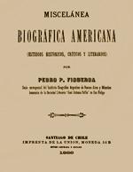 Cubierta para Miscelánea biográfica americana: estudios históricos, críticos y literarios