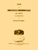 Cubierta para Viaje a las provincias meridionales de Chile i su descripción