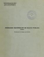 Cubierta para I Jornadas nacionales de Salud Pública: Resúmenes de trabajos presentados