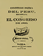 Cubierta para Constitución política del Perú: Reformada por el Congreso de 1860