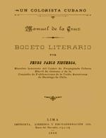 Cubierta para Un colorista cubano: Manuel de la Cruz : boceto literario