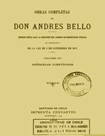 Cubierta para Opúsculos científicos: Obras completas de Andrés de Bello. Volumen XIV