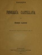 Cubierta para Elementos de fonolojía castellana