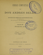 Cubierta para Poesías: Obras completas de Don Andrés Bello