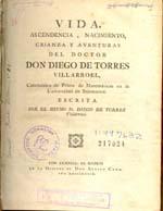 Cubierta para Vida, ascendencia, nacimiento, crianza y aventuras del doctor don Diego de Torres Villarroel