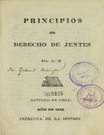 Cubierta para Principios de derecho de jentes
