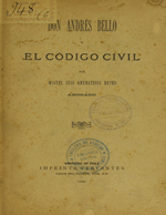 Cubierta para Don Andrés Bello y el Código Civil