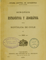Cubierta para Sinopsis estadística y jeográfica de la República de Chile en 1898