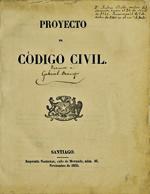 Cubierta para Proyecto de código civil: [Anotaciones de Gabriel Ocampo]