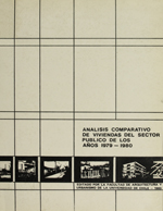 Cubierta para Análisis comparativo de viviendas del sector público de los años 1979-1980