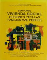 Cubierta para Seminario Vivienda Social: Opciones para las familias más pobres