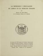 Cubierta para La impresión y circulación de libros en el derecho indiano
