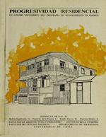 Cubierta para Progresividad residencial: Un estudio sociofísico del programa de mejoramiento de barrios