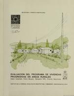 Cubierta para Evaluación del programa de viviendas progresivas en áreas rurales