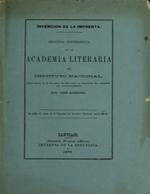 Cubierta para Invención de la imprenta: Segunda conferencia en la Academia Literaria del Instituto Nacional