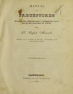 Cubierta para Manual de preceptores: traducido libremente i adaptado para los de las escuelas de Chile