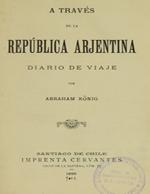 Cubierta para A través de la República Arjentina: diario de viaje