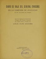 Cubierta para Diario de viaje del general O'Higgins en la campaña de Ayacucho