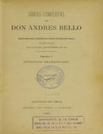 Cubierta para Opúsculos gramaticales: Obras completas de Andrés de Bello. Volumen V