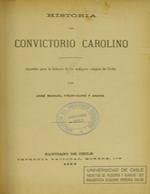 Cubierta para Historia del convictorio carolino