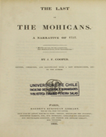 Cubierta para The last of the mohicans: a narrative of 1757