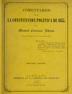 Cubierta para Comentarios sobre la Constitución Política de 1833