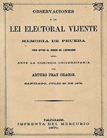 Cubierta para Observaciones a la lei electoral vijente: memoria de prueba para optar al grado de licenciado leída ante la Comisión Universitaria.