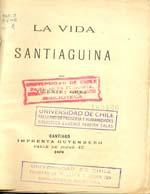 Cubierta para La vida santiaguina