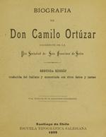 Cubierta para Biografía de D. Camilo Ortúzar: sacerdote de la Pía Sociedad de San Francisco de Sales