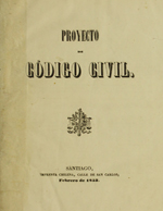 Cubierta para Proyecto de código civil: [V.2]