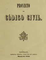 Cubierta para Proyecto de código civil: [V.3]