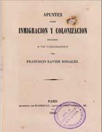 Cubierta para Apuntes sobre inmigración y colonización: dedicados a sus conciudadanos