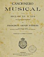 Cubierta para Cancionero musical de los siglos XV y XVI