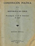 Cubierta para Constitución Política de la República de Chile promulgada el 18 de septiembre de 1925