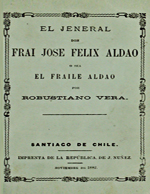 Cubierta para El jeneral don Fray José Félix Aldao o sea El Fraile Aldao