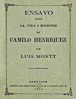 Cubierta para Ensayo sobre la vida i escritos de Camilo Henríquez