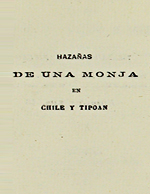 Cubierta para Hazañas de una monja en Chile y Tipoan